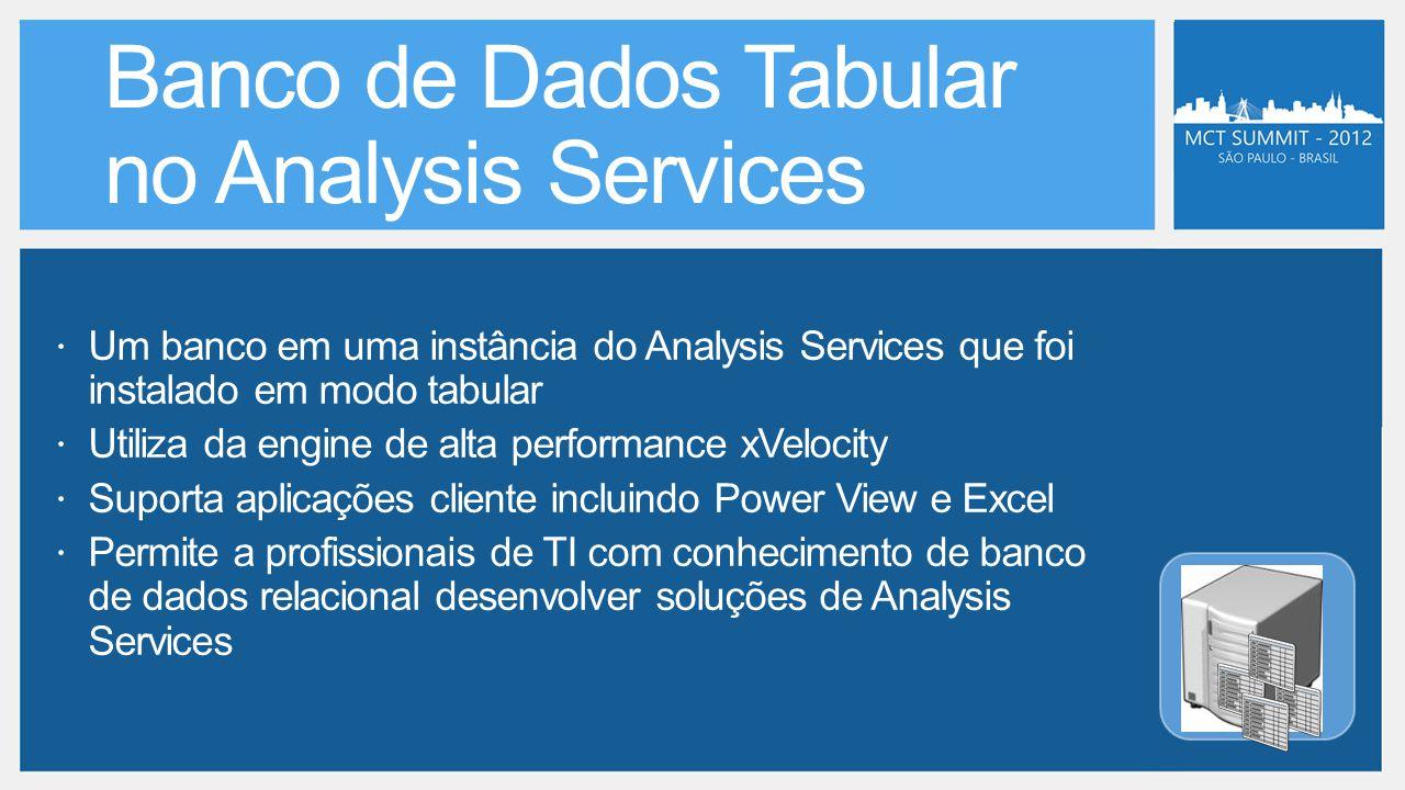  Um banco em uma instância do Analysis Services que foi instalado em modo tabular  Utiliza da engine de alta performance xVelocity  Suporta aplicaç