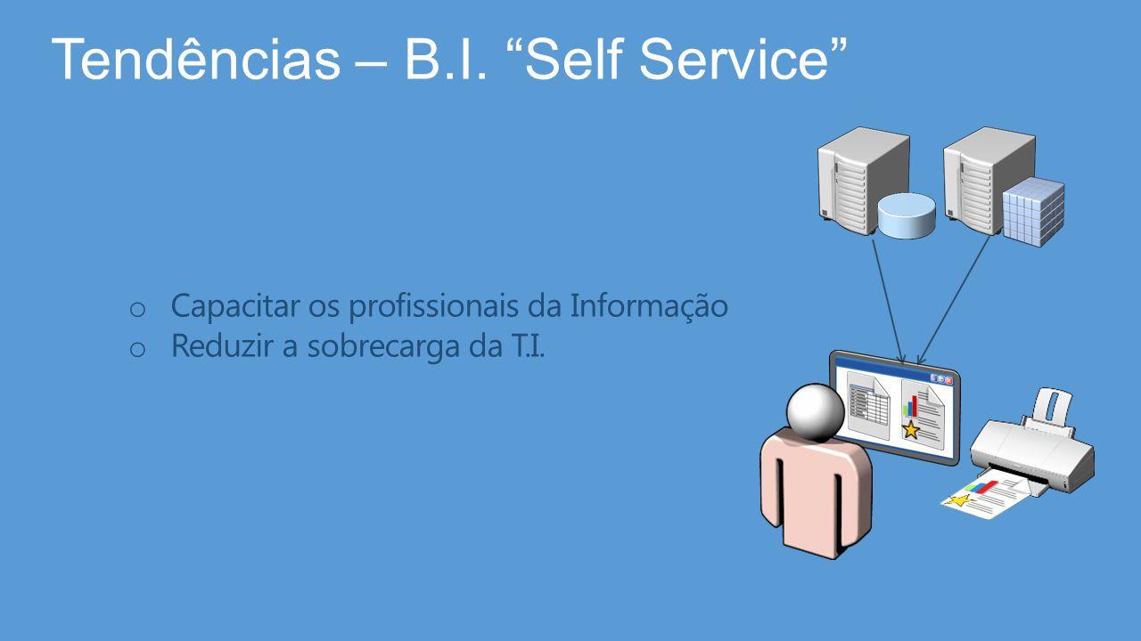 """Tendências – B.I. """"Self Service"""" o Capacitar os profissionais da Informação o Reduzir a sobrecarga da T.I."""