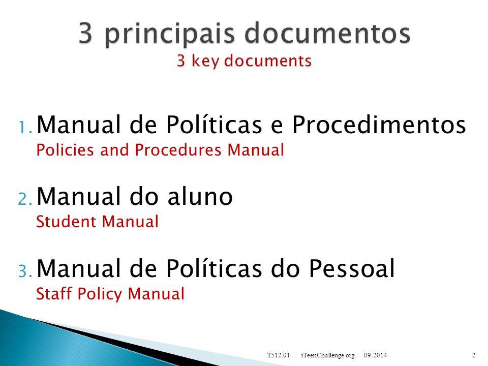 1. Manual de Políticas e Procedimentos Policies and Procedures Manual 2.