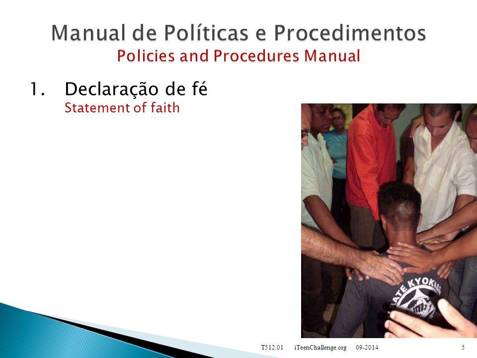 1.Declaração de fé Statement of faith 09-2014T512.01 iTeenChallenge.org5