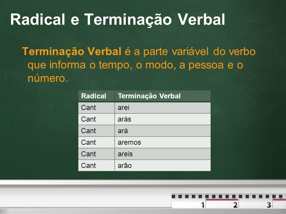 Formas Nominais Gerúndio  Forma-se o gerúndio pela troca da terminação r do infinitivo impessoal pela terminação ndo.