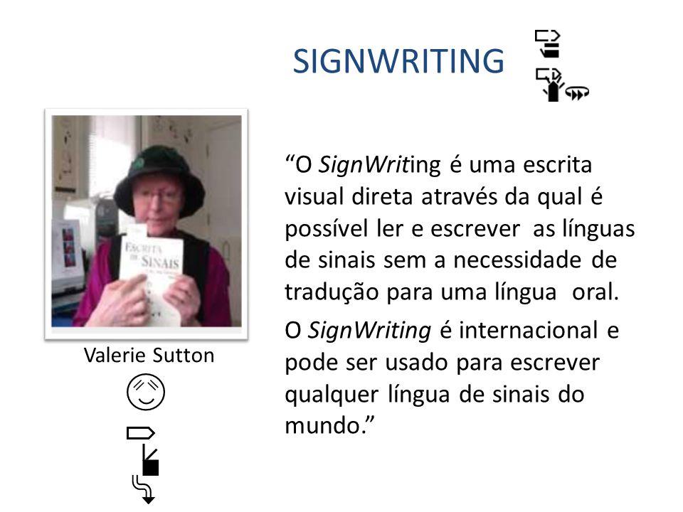 O SignWriting chegou ao Brasil em 1996 com o trabalho de Costa, Stumpf e Borba.