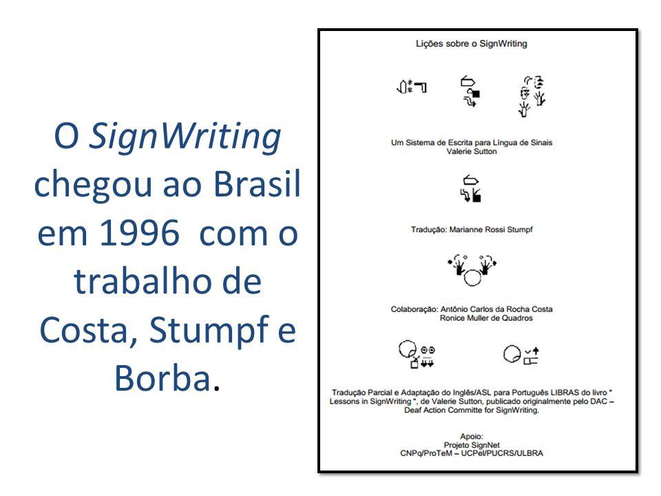 A escrita de sinais é muito importante para nós, porque é a forma própria de escrever a língua de sinais.