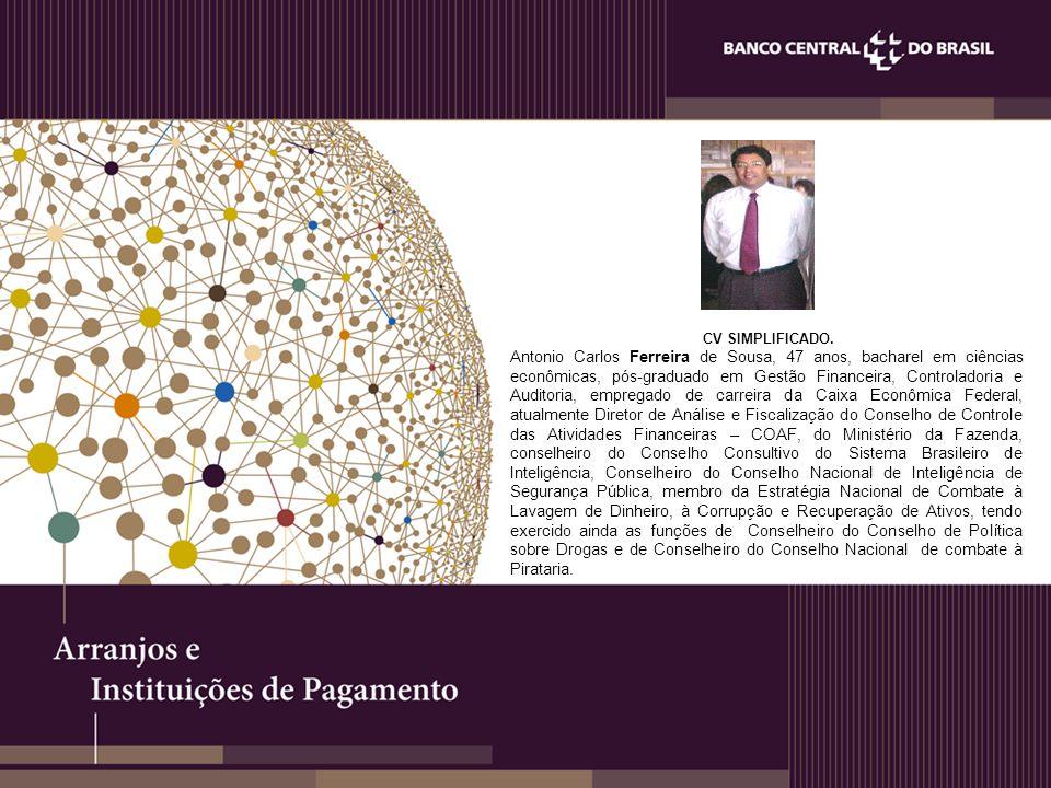 CV SIMPLIFICADO. Antonio Carlos Ferreira de Sousa, 47 anos, bacharel em ciências econômicas, pós-graduado em Gestão Financeira, Controladoria e Audito