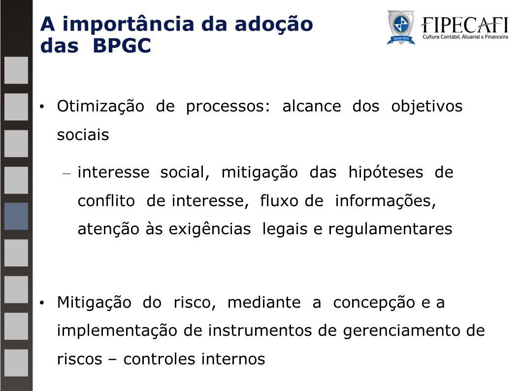 A importância da adoção das BPGC Otimização de processos: alcance dos objetivos sociais – interesse social, mitigação das hipóteses de conflito de int