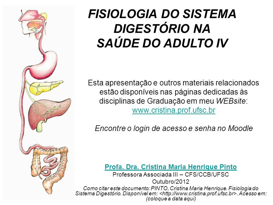 Esta apresentação e outros materiais relacionados estão disponíveis nas páginas dedicadas às disciplinas de Graduação em meu WEBsite: www.cristina.pro