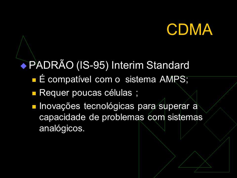 CDMA  PRINCÍPIOS Quanto maior a velocidade do sinal, maior a faixa de freqüências necessárias para transformá-lo ; Na modulação, ou na codificação, q