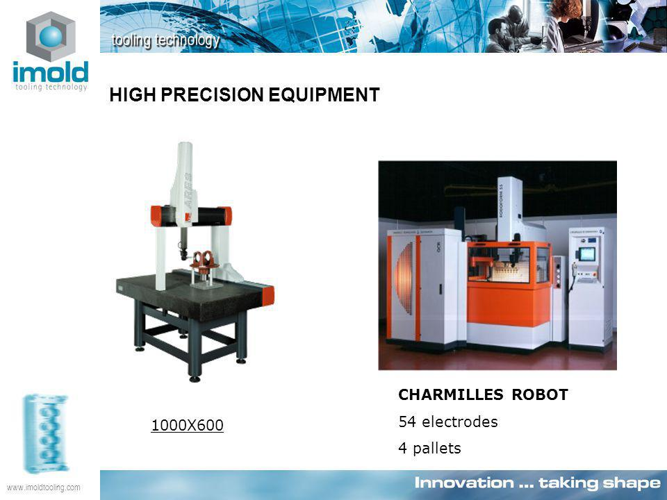 www.imoldtooling.com CHARMILLES ROBOT 54 electrodes 4 pallets 1000X600 HIGH PRECISION EQUIPMENT