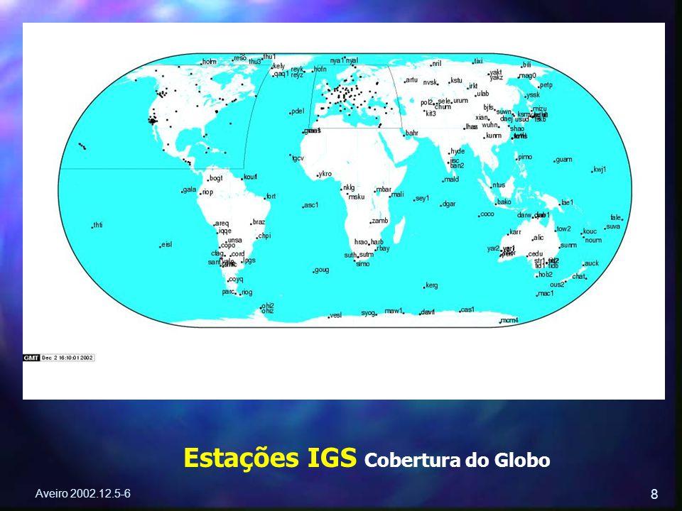 Aveiro 2002.12.5-6 8 Estações IGS Cobertura do Globo