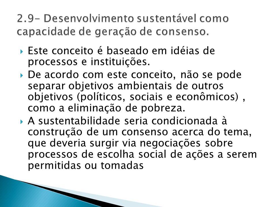  Este conceito é baseado em idéias de processos e instituições.