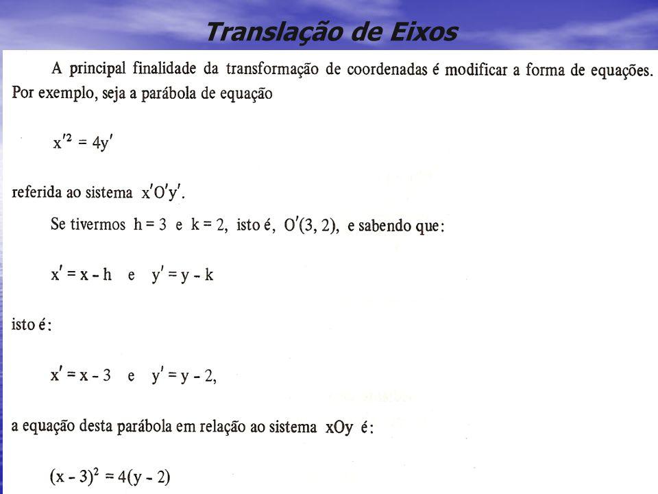 Seja um ponto P qualquer do plano tal que suas coordenadas são: x e y em relação ao sistema xoy, x' e y' em relação ao sistema x'o'y'. Pela figura ant