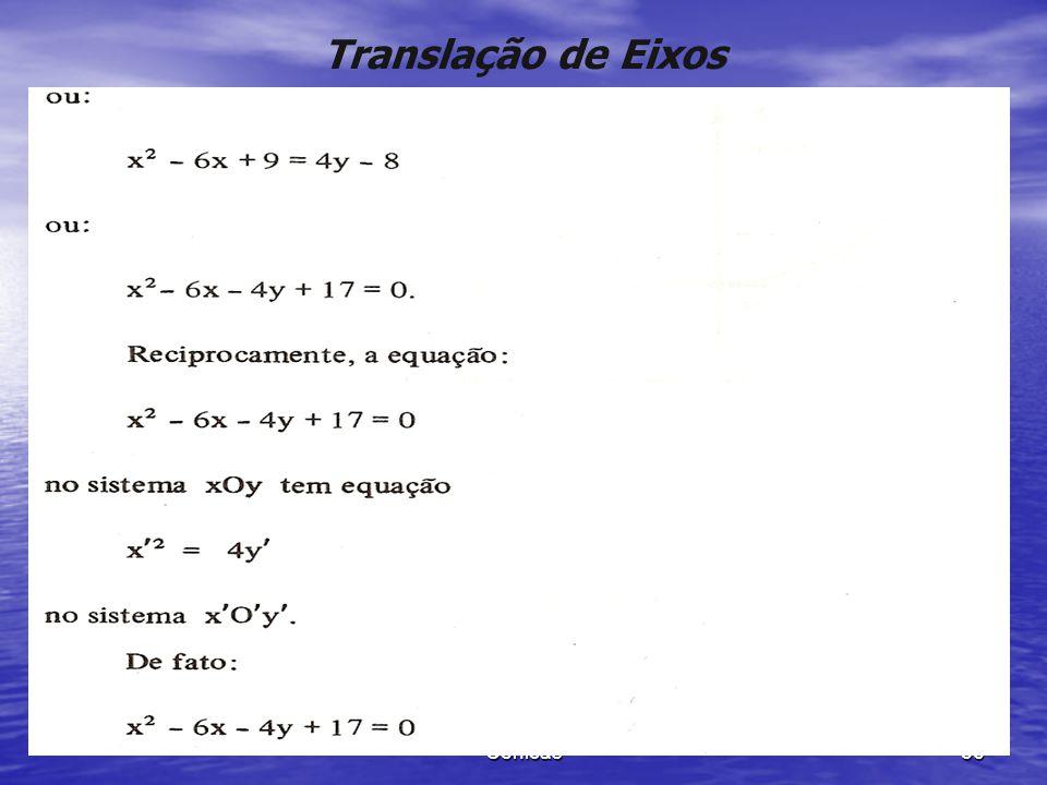 Cônicas 55 Translação de Eixos