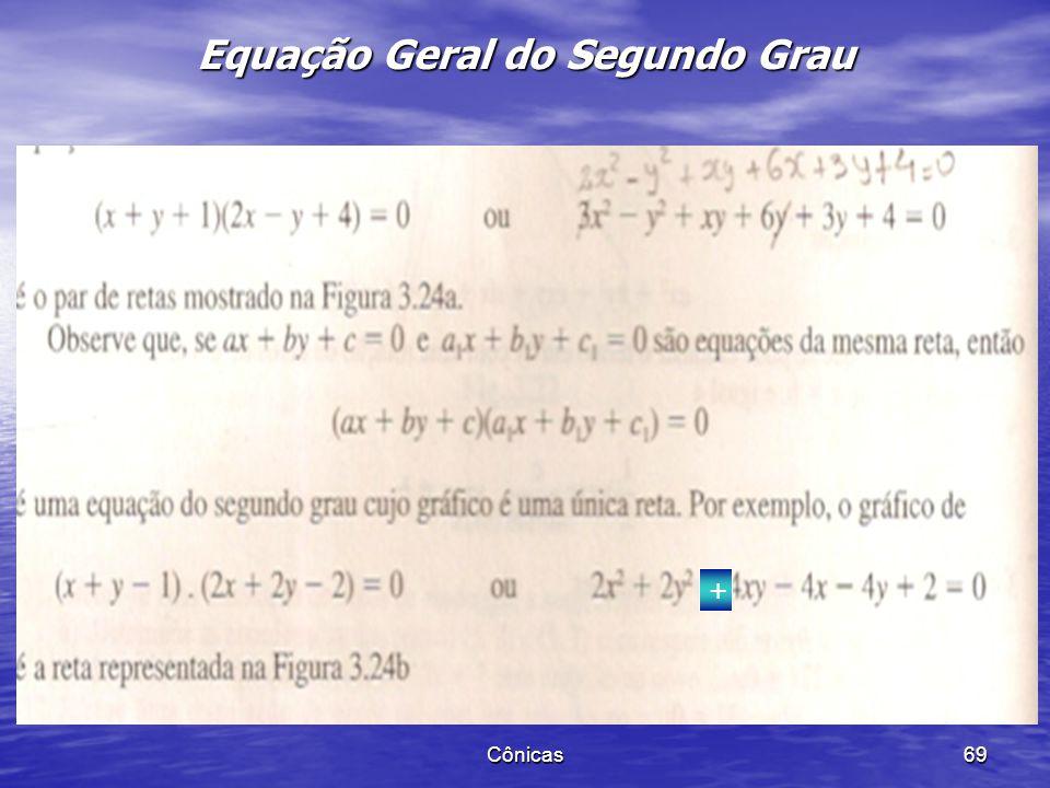 Cônicas 68 Equação Geral do Segundo Grau