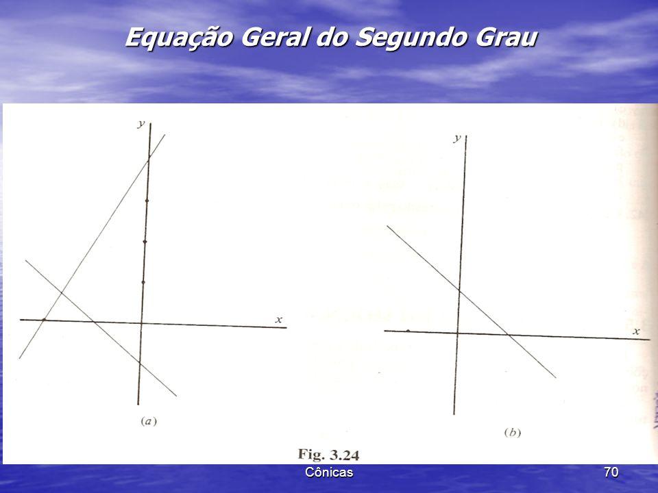 Cônicas 69 Equação Geral do Segundo Grau +