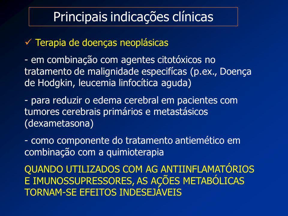 Principais indicações clínicas Terapia de doenças neoplásicas - em combinação com agentes citotóxicos no tratamento de malignidade especifícas (p.ex.,