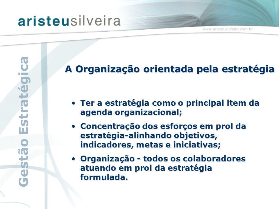 A Organização orientada pela estratégia Ter a estratégia como o principal item da agenda organizacional;Ter a estratégia como o principal item da agen