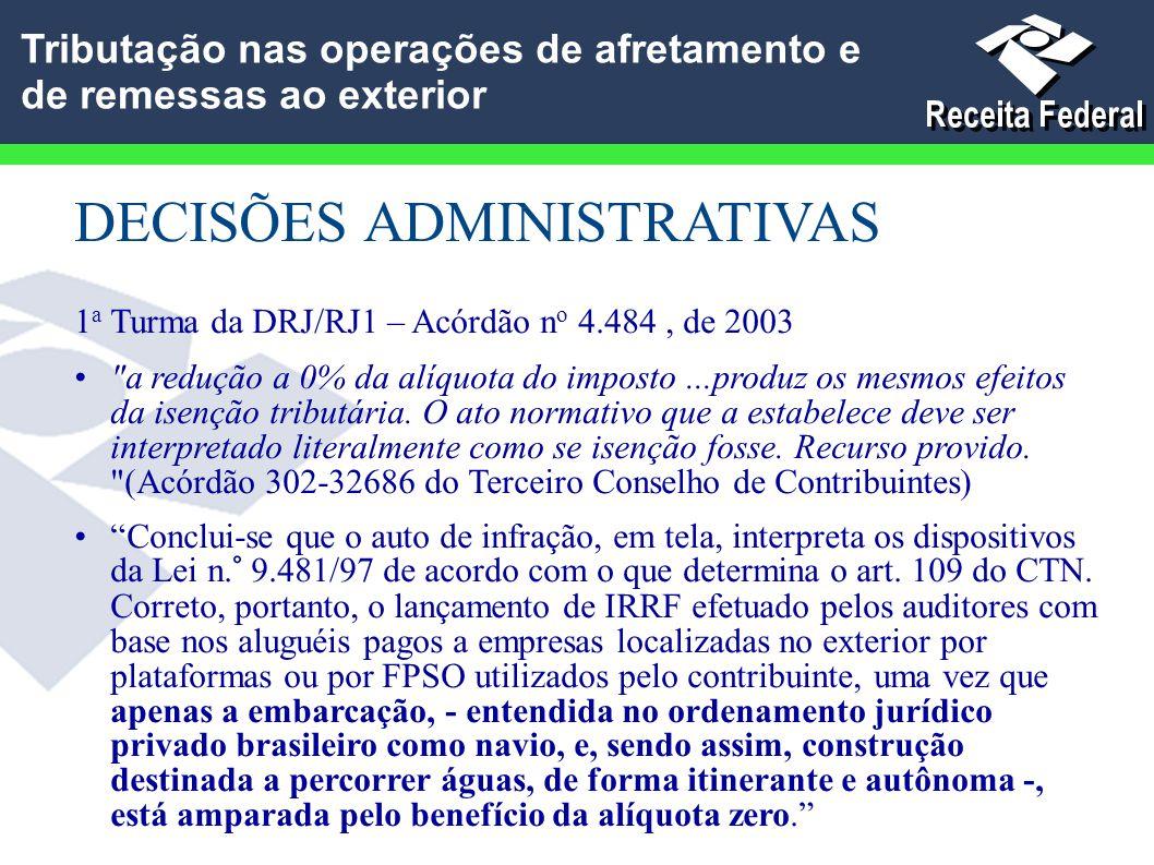 DECISÕES ADMINISTRATIVAS 1 a Turma da DRJ/RJ1 – Acórdão n o 4.484, de 2003