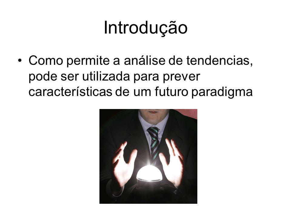 Introdução Como permite a análise de tendencias, pode ser utilizada para prever características de um futuro paradigma