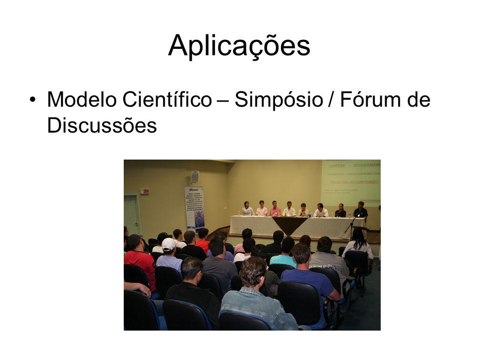 Aplicações Modelo Científico – Simpósio / Fórum de Discussões