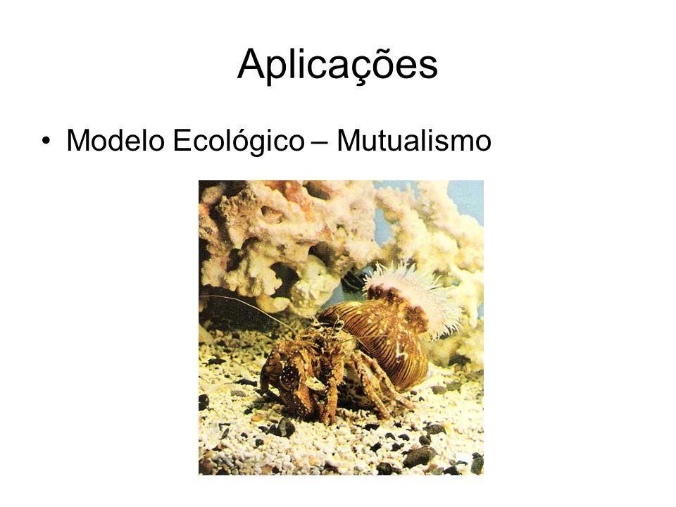 Aplicações Modelo Ecológico – Mutualismo