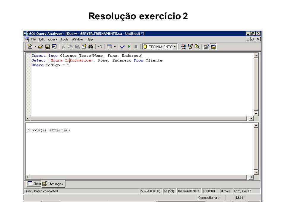 Resolução exercício 2