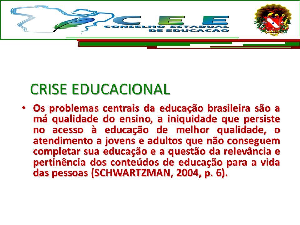 Os problemas centrais da educação brasileira são a má qualidade do ensino, a iniquidade que persiste no acesso à educação de melhor qualidade, o atend
