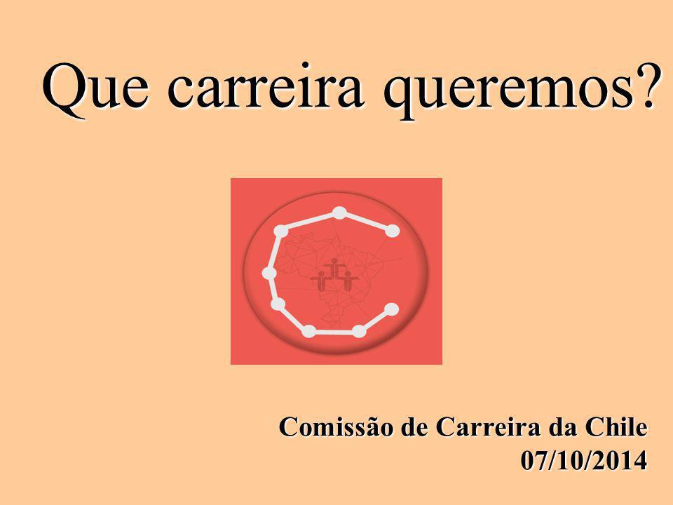 Que carreira queremos? Comissão de Carreira da Chile 07/10/2014