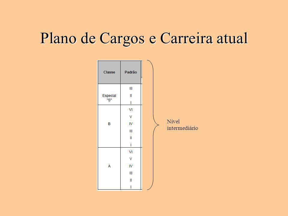 Plano de Cargos e Carreira atual Nível intermediário