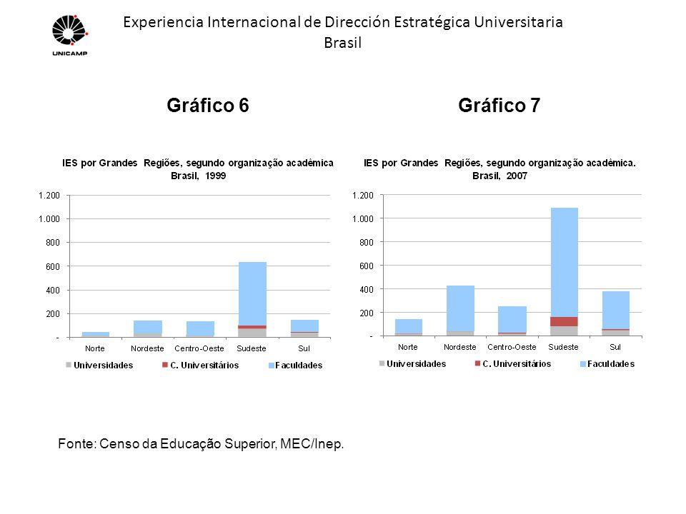 Experiencia Internacional de Dirección Estratégica Universitaria Brasil Gráfico 18 Fonte: Pesquisa Nepp - Unicamp