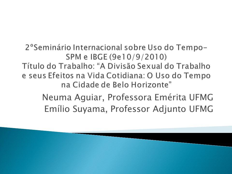 Neuma Aguiar, Professora Emérita UFMG Emílio Suyama, Professor Adjunto UFMG