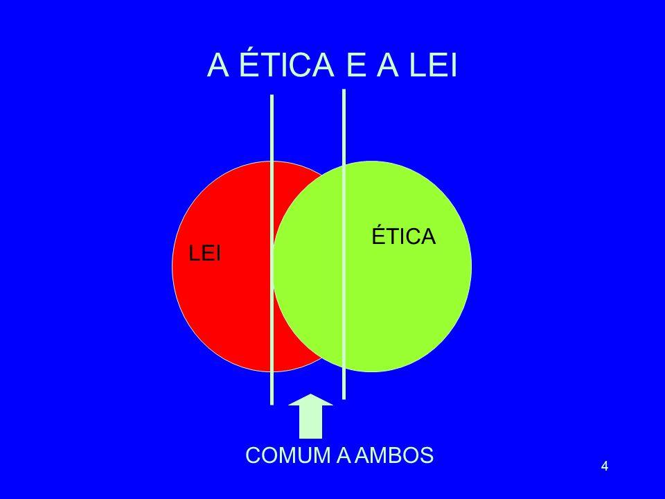 4 A ÉTICA E A LEI LEI ÉTICA COMUM A AMBOS