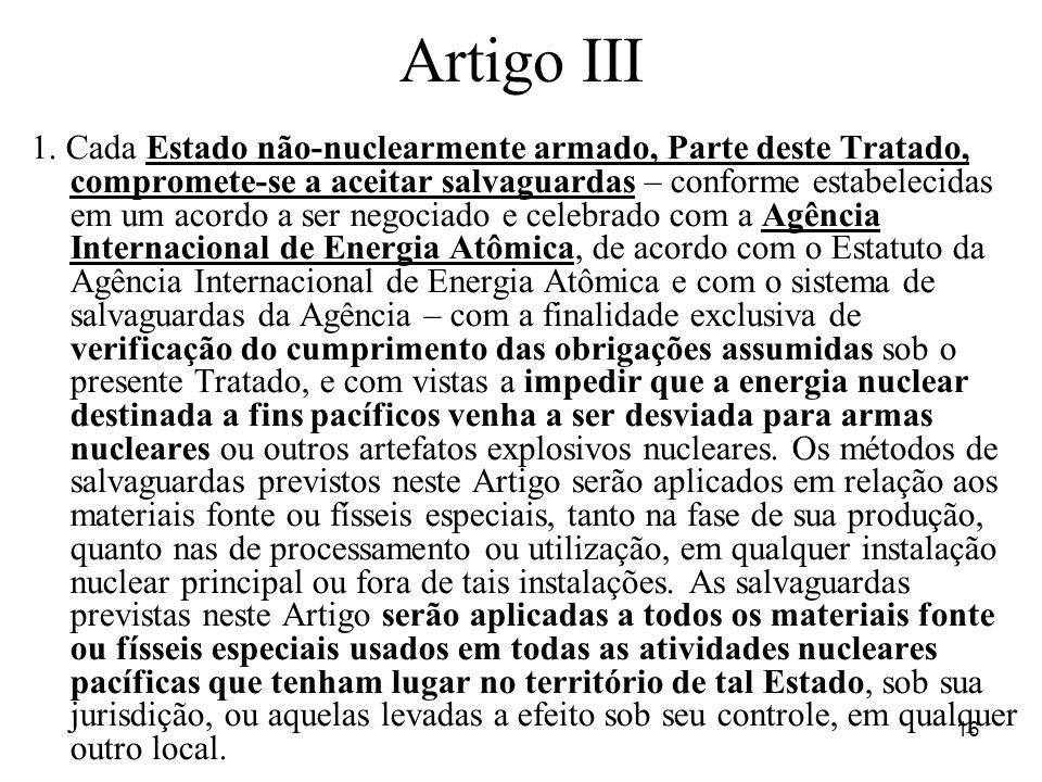 16 Artigo III 1.