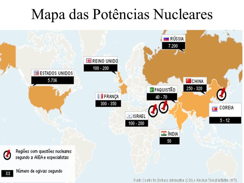 26 Mapa das Potências Nucleares x