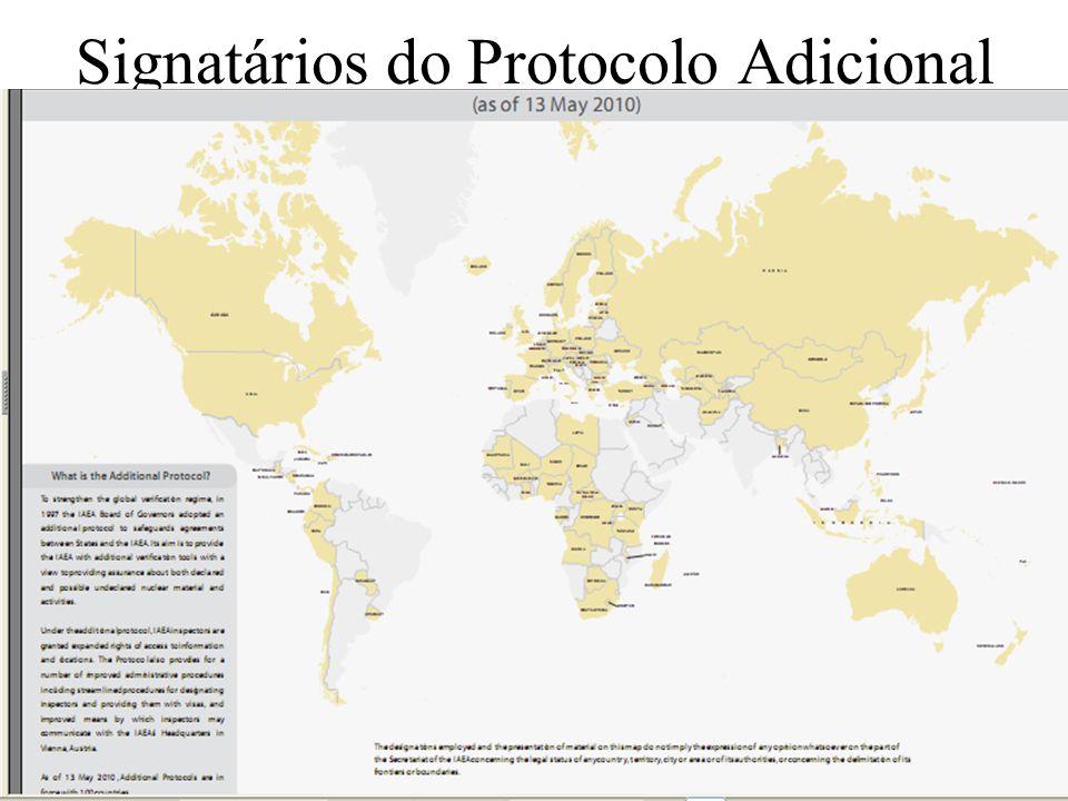 29 Signatários do Protocolo Adicional x