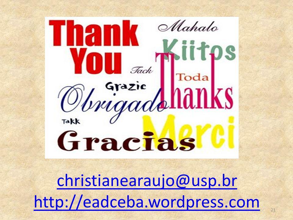 christianearaujo@usp.br http://eadceba.wordpress.com 21
