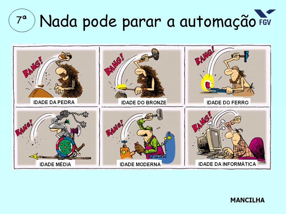 Nada pode parar a automação IDADE DA PEDRA IDADE DO BRONZEIDADE DO FERRO IDADE MÉDIAIDADE MODERNA IDADE DA INFORMÁTICA MANCILHA 7ª