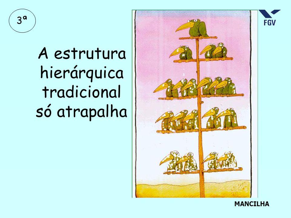 A estrutura hierárquica tradicional só atrapalha MANCILHA 3ª