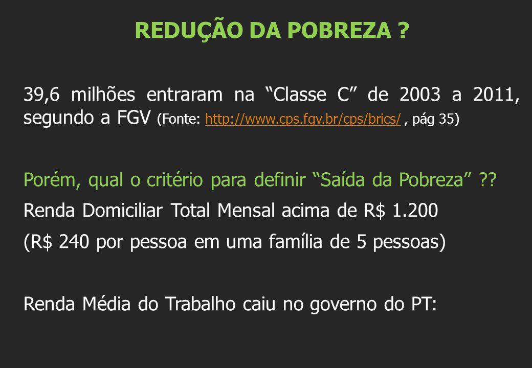 REDUÇÃO DA POBREZA .