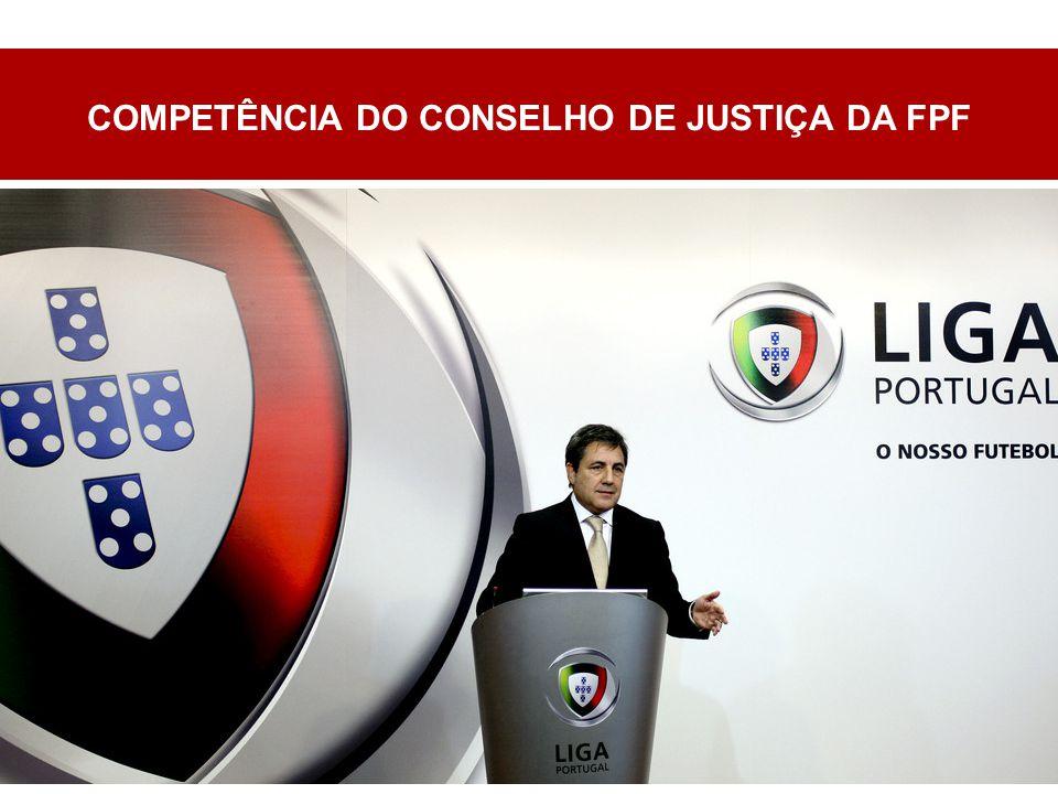 COMPETÊNCIA DO CONSELHO DE JUSTIÇA DA FPF