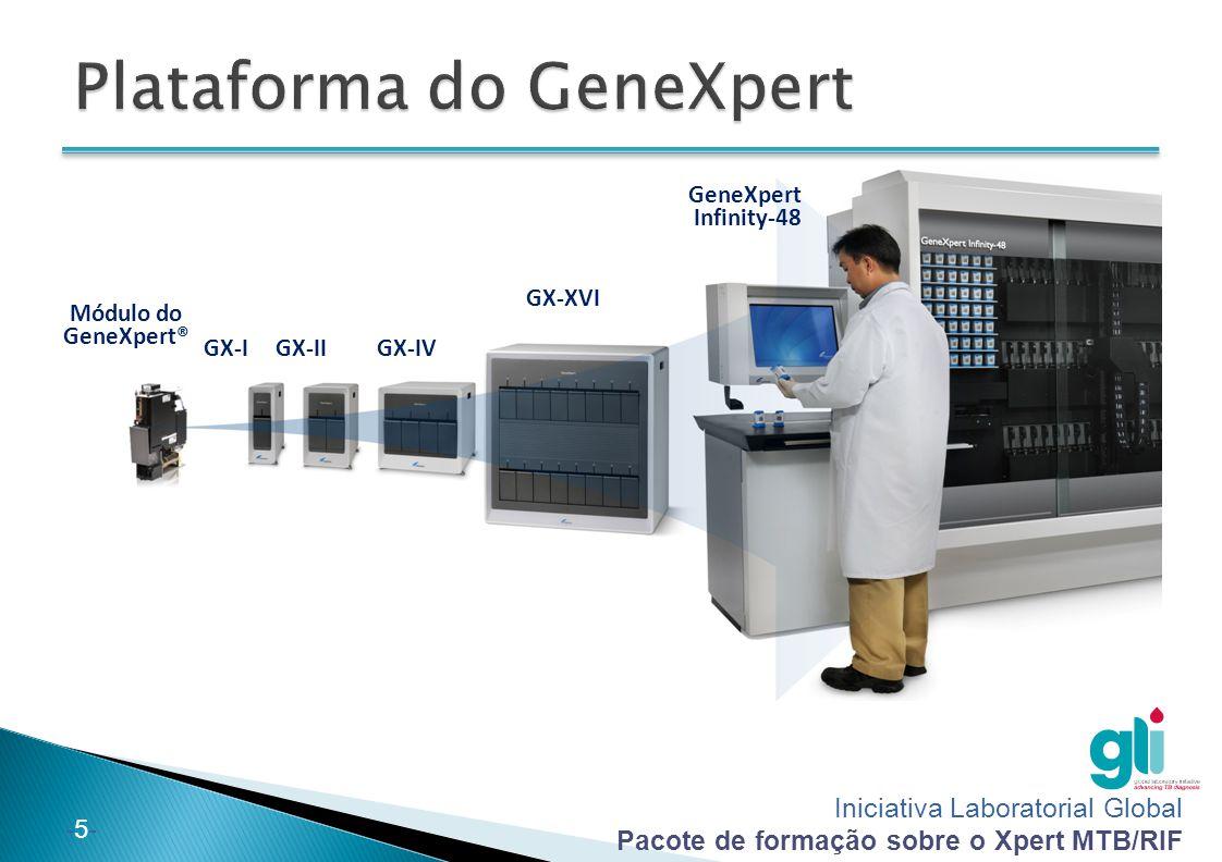 Iniciativa Laboratorial Global Pacote de formação sobre o Xpert MTB/RIF -5--5- GX-I GX-XVI GeneXpert Infinity-48 Módulo do GeneXpert® GX-IIGX-IV