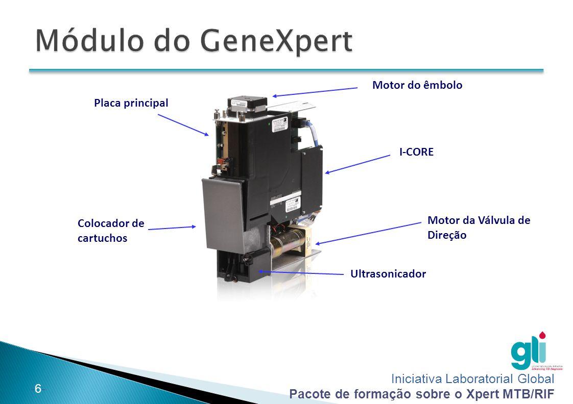 Iniciativa Laboratorial Global Pacote de formação sobre o Xpert MTB/RIF -6--6- Motor do êmbolo Colocador de cartuchos I-CORE Placa principal Motor da Válvula de Direção Ultrasonicador