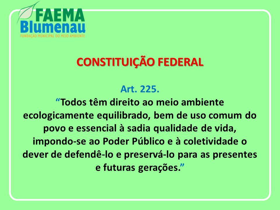 CONSTITUIÇÃO FEDERAL CONSTITUIÇÃO FEDERAL Art. 225.
