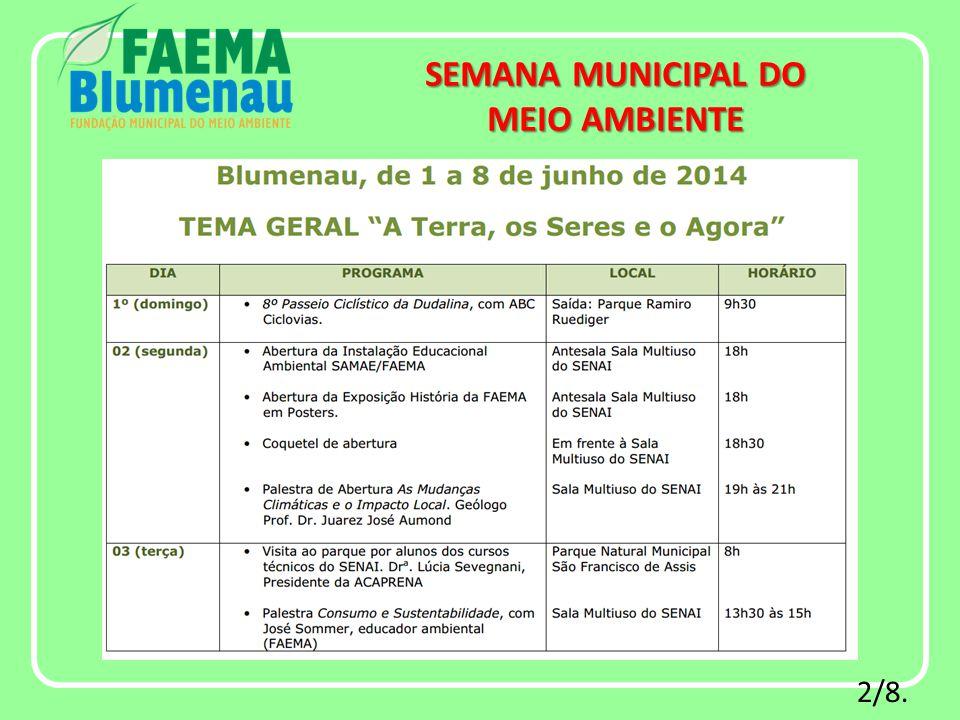 2/8. SEMANA MUNICIPAL DO MEIO AMBIENTE