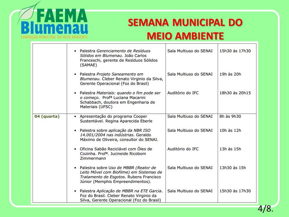 4/8. SEMANA MUNICIPAL DO MEIO AMBIENTE