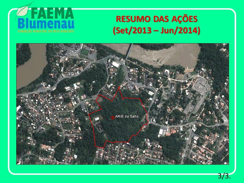 Reabertura do Parque São Francisco de Assis à visitação pública: RESUMO DAS AÇÕES (Set/2013 – Jun/2014) 1/2.