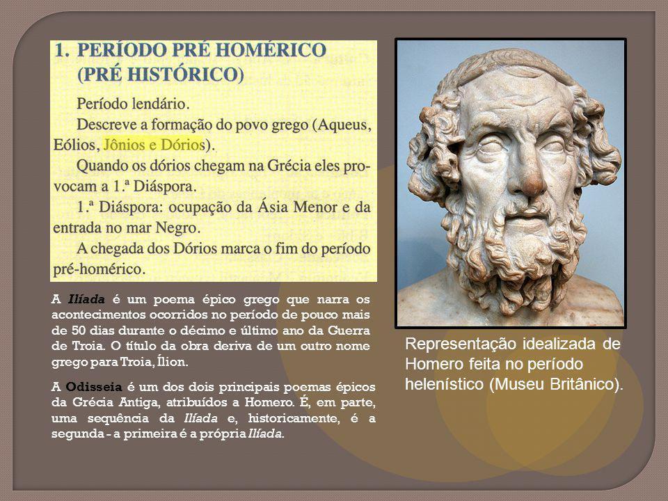 Representação idealizada de Homero feita no período helenístico (Museu Britânico).