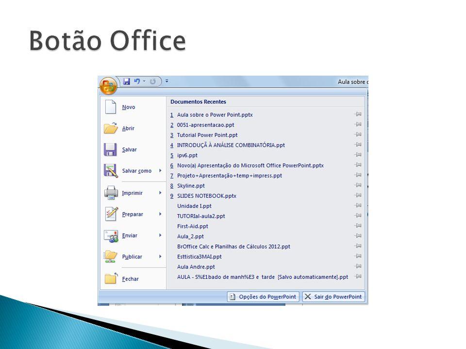  Nas versões 2007 e 2010 foram implantadas mudanças estruturas das telas substituindo a maioria dos menus por guias de acesso rápido.