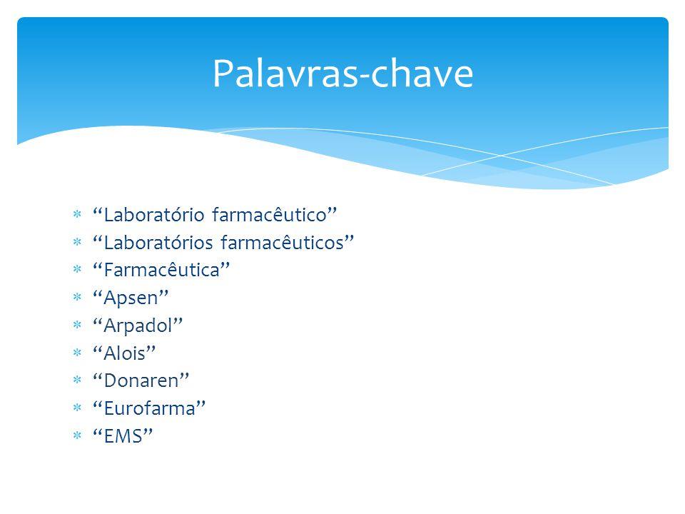 """ """"Laboratório farmacêutico""""  """"Laboratórios farmacêuticos""""  """"Farmacêutica""""  """"Apsen""""  """"Arpadol""""  """"Alois""""  """"Donaren""""  """"Eurofarma""""  """"EMS"""" Palavra"""