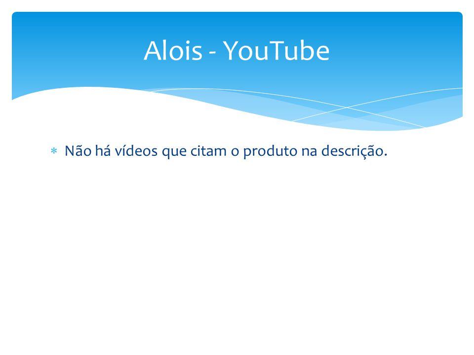  Não há vídeos que citam o produto na descrição. Alois - YouTube