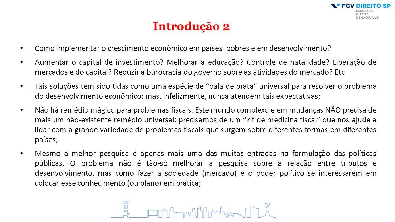 Introdução 2 Como implementar o crescimento econômico em países pobres e em desenvolvimento? Aumentar o capital de investimento? Melhorar a educação?